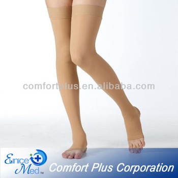 23-32mmHg Thigh high medical compression stocking Class 2 open toe