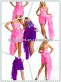 dramática sweetheart frisada removível superior curto sobreposição de tule vestido de baile
