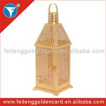 Hot Sale Elegant Romatic Wedding Candle Holders Gold Moroccan Lanterns