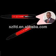 new product plastic led light ballpen,school supply logo type led projector pen,flashing ballpen