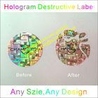 Custom Hologram Destructible Vinyl Labels,3D Hologram Tamper Evident Stickers,Special Destructive Security Label Stickers