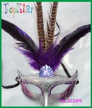 2014 Carnival Mask Purple Masks Peacock Design Mask