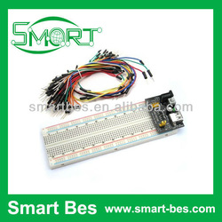 Smart bes~3.3V/5V MB102 Breadboard power module+MB-102 830 points Solderless Prototype Bread board kit +65 Flexible jumper wires