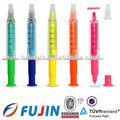 Libre de la aguja de la jeringa de color barril forma resaltador/bolígrafo/farmacéutico de inyección de promoción de la pluma/jeringa mini