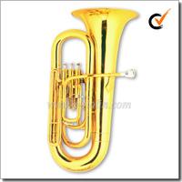 3 Valves Bb Key Gold Lacquer Children Tuba (TU9914)