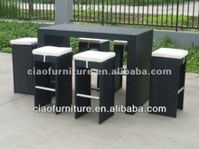 portable outdoor bar table and bar stool