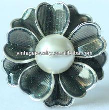 ZF00248 Alloy Pin Flower Scarf Buckel Pearl Jewelry Shop