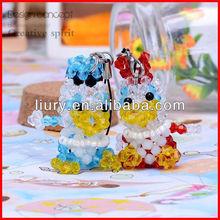 Handmade crystal cellphone mobile phone strap for lovers