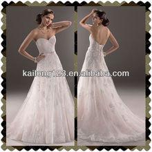 Fantastic Sweetheart A-line Corset Back Closure Lace Wedding Dress
