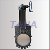 Bever gear knife gate valve