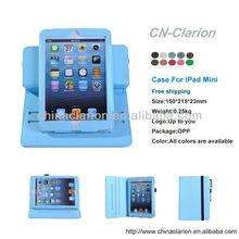 Wholesale 360 degree rotating leather case fo apple ipad mini,auto wake sleep function