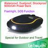9000mAh life-proof waterproof dustproof shockproof 2013 new power bank