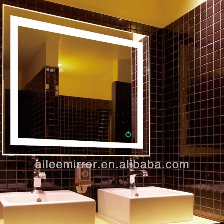 각형 led 욕실 거울, 조명 목욕탕 거울