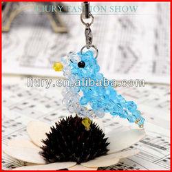 Fashion crystal bird desk phone accessories