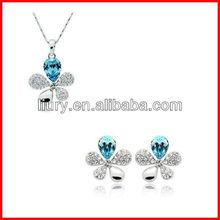 Fashion delicate beauty crystal jewelry set