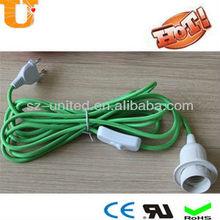 220V Euro standard textile cord for table lighting