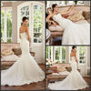 New Style A-line Sweetheart Floor-length Chiffon &Lace Back Lace Up Applique Fashion Arabic Wedding Dress