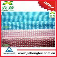cotton polyester check seersucker fabric