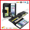 Absolute Wallet Style Mobile Phone Sleeve for iPhone 5'' Sleeve Leather Black