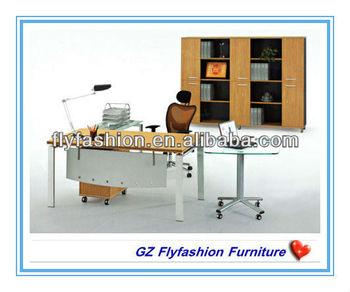 OD-102 Steel Frame Manager Desk with baffle /steel desk with wooden top