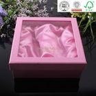 Decorative PVC window Silk insert delicate packaging paper box