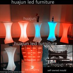 led bar table glass top