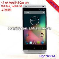 Quad core smart phone mtk6589 1.2Ghz 4.7inch HD 1280x720 pixel Android 4.2 1GB RAM GSM WCDMA 16GB