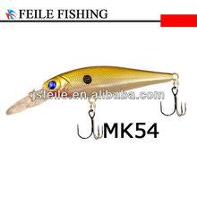 Hard 100MM Gold Plastic Minnow Fish Lures