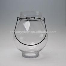 Clear Glass Hanging Hurrican Lantern