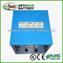 lifepo4 battery 36v 30ah lithium for electric bike/golf cart