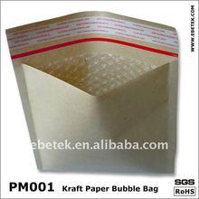 Bubble almofadado envelope kraft modelo com janela