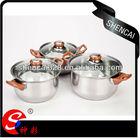 410/SC-12D4Soup pot Souce pot/Milk pot Glass lid Stainless Steel casserole set