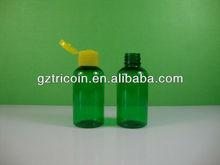 60ML plastic bottle PET with flip top cap