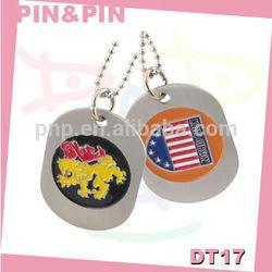popular pretty aluminum alloy colorful enamel logo creative decorative dog tags