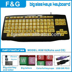 large letter keyboard for children,old people,and early education