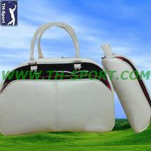 Fashion Travelling Leather Ladies Golf Boston Shoe bag