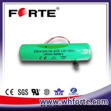3.6v DD type LiSOCl2 battery cell ER341245