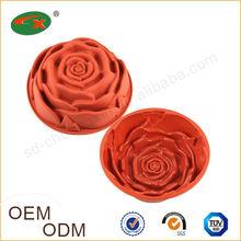 2014 Wholesale Custom Made Rose Silicone Cake Baking Pan