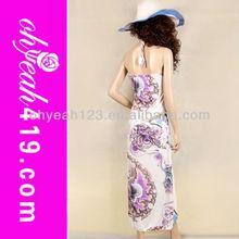 Fashion desgin beach wear maxi dress muslim
