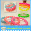 2013 fashion bracelet silicone bracelet accessories/Lovely silicone Charm Bracelet