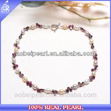 N-AB0084 Fashion yiwu necklace jewelry multi colored rhinestone pearl collar