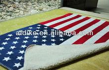 USA Flag Design Polyester Mink Sherpa Blanket/Blankets