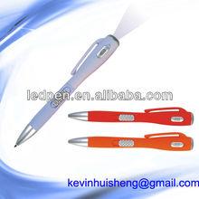 Promotional LED ballpoint pen/lamp pen/cheap price pen