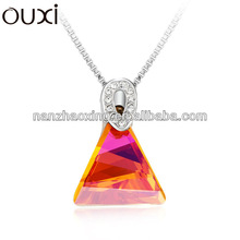 2014 hot sale triangle chain necklac made with Swarovski elements