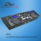 Dong Guan manufacturer Profesional DJ USB MP3 Player/Mixer/USB Sound Card