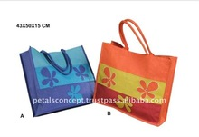 Canvas shopping bag with printed design