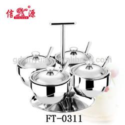 FT-0311 Stainless steel 4pcs rotation multi Cruet