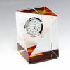 2014 Newest Cut Corner Crystal Glass Clock, Crystal Desk Clock for Souvenir