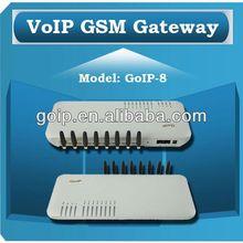 Providing 8 port GSM VoIP Gateway,soft switch,GoIP 8