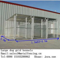 1.5x3.0x1.8mx3 runs dog house steel structure dog runs 4.5x3.0x1.8m large dog kennels